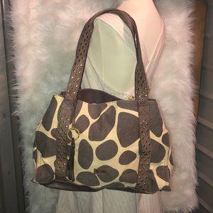 Moschino Cheap & Chic Giraffe Print Shoulder Bag
